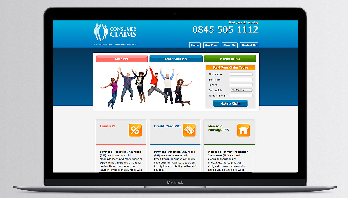 Consumer Claims website