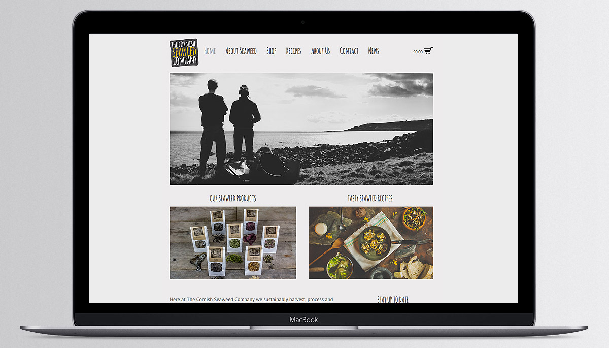 Cornish Seaweed Company website