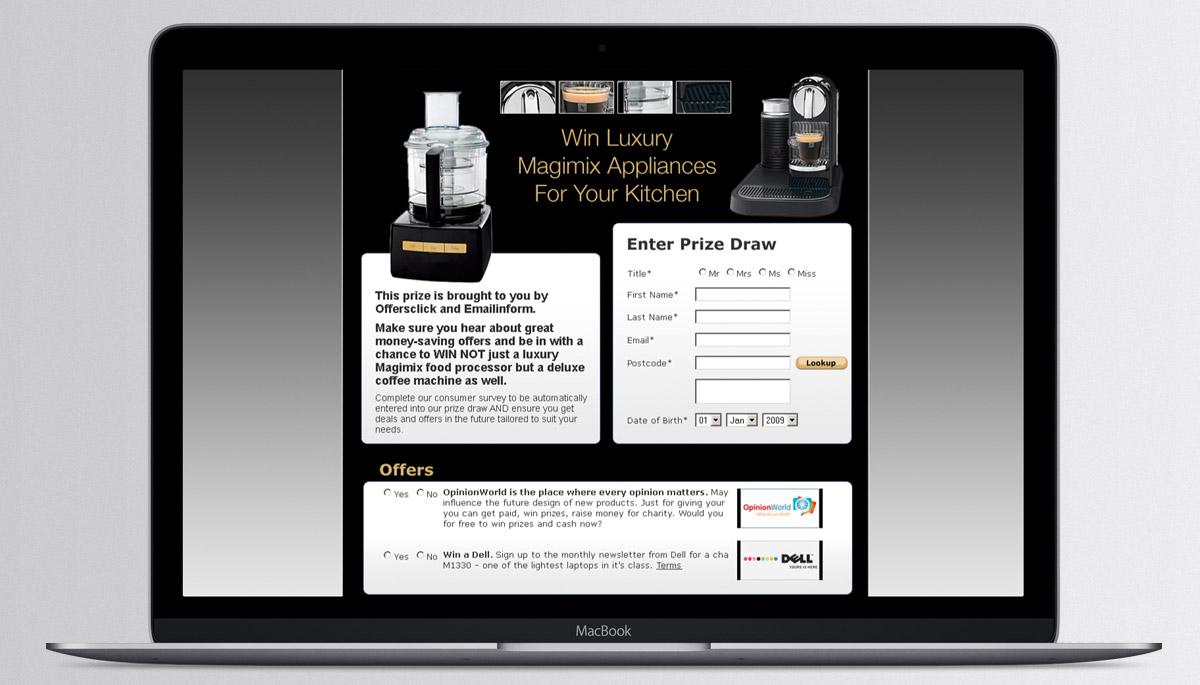 Emailinform - Prize Draw site
