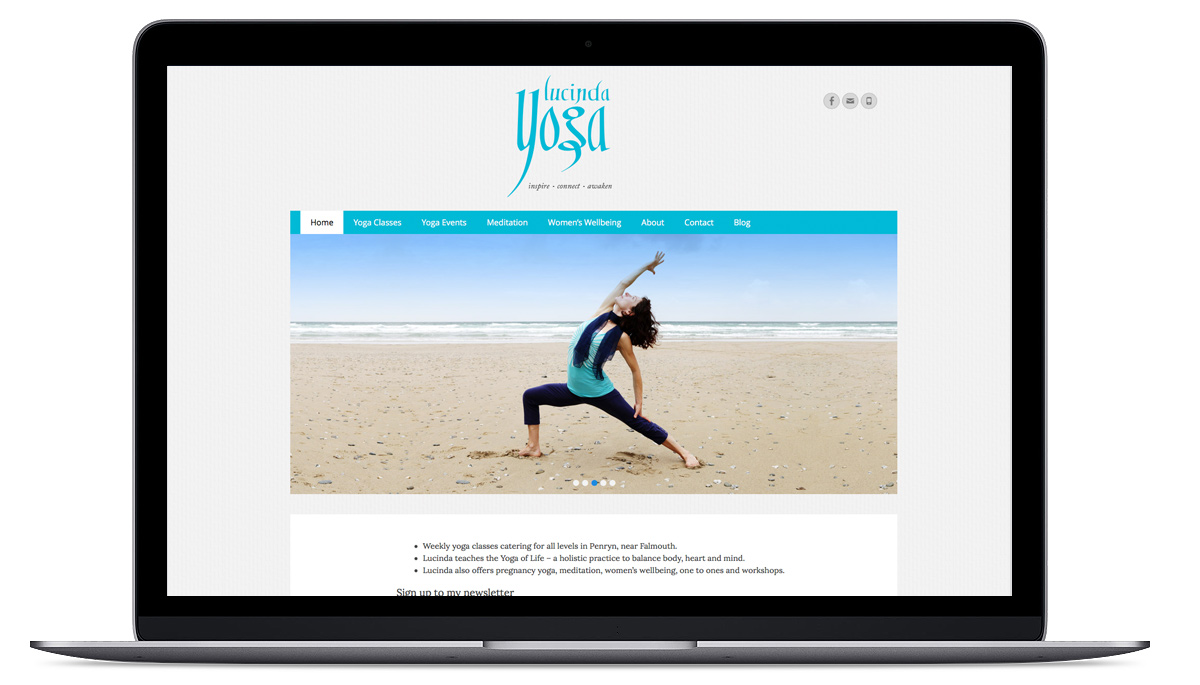 Lucinda Yoga Website