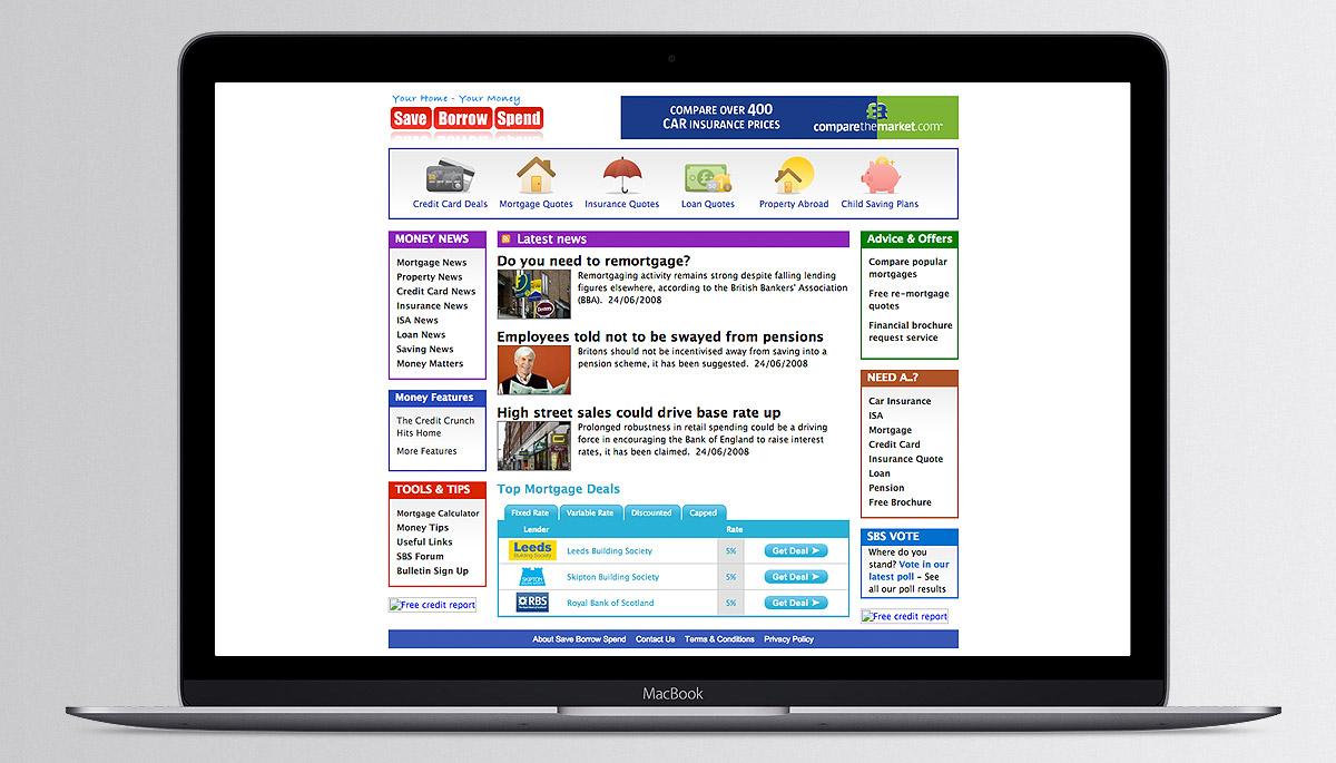 Save Borrow Spend website