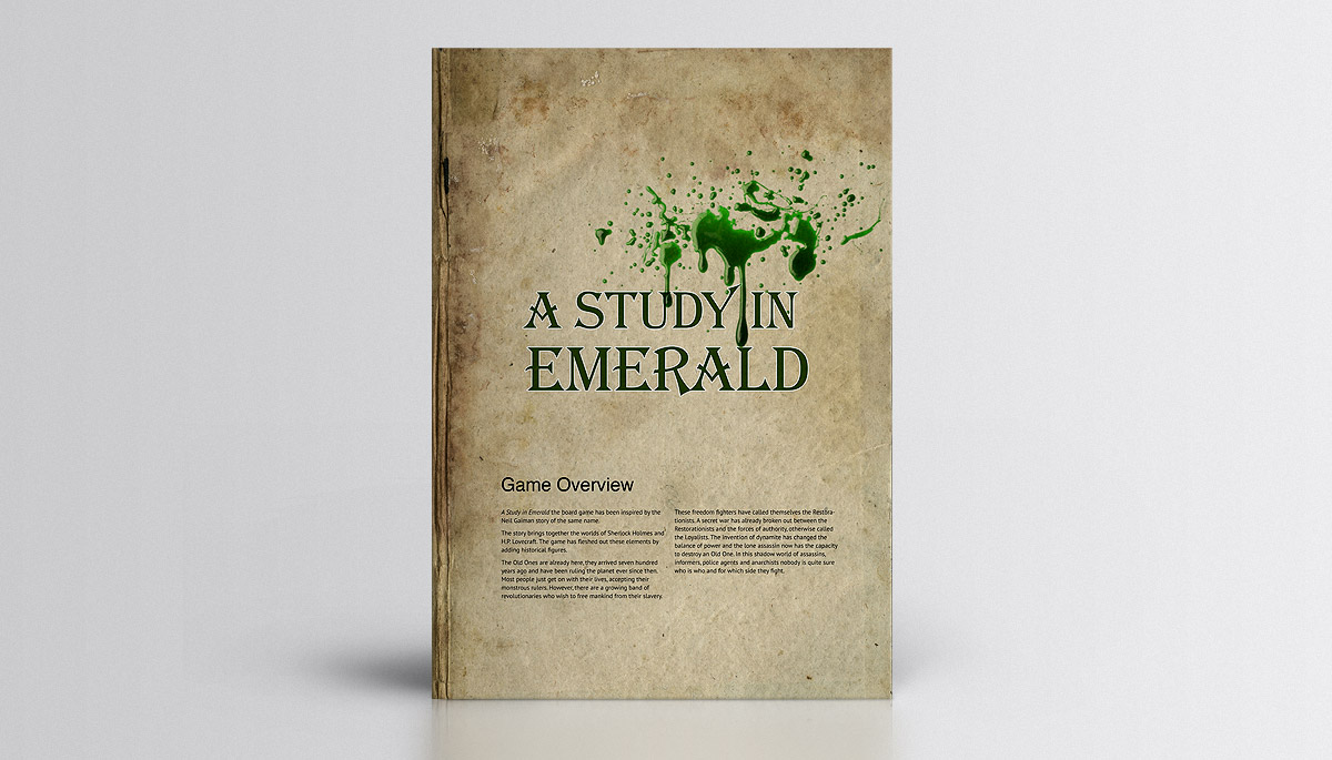 A Study In Emerald rule booklet