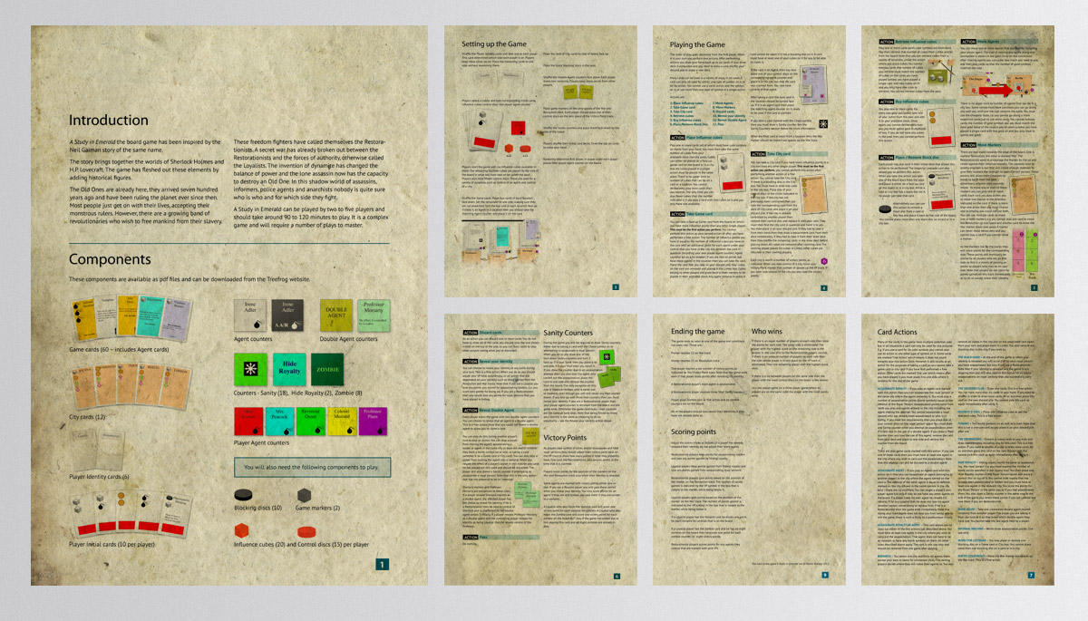 A Study In Emerald Ruleset - Kickstarter